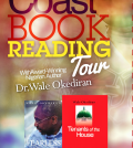 Wale Okediran book reading tour flier
